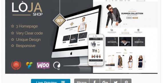 "Share theme ""Loja – Responsive WooCommerce Theme"""